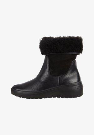 SOFT TRED - Cowboy/biker ankle boot - black/black