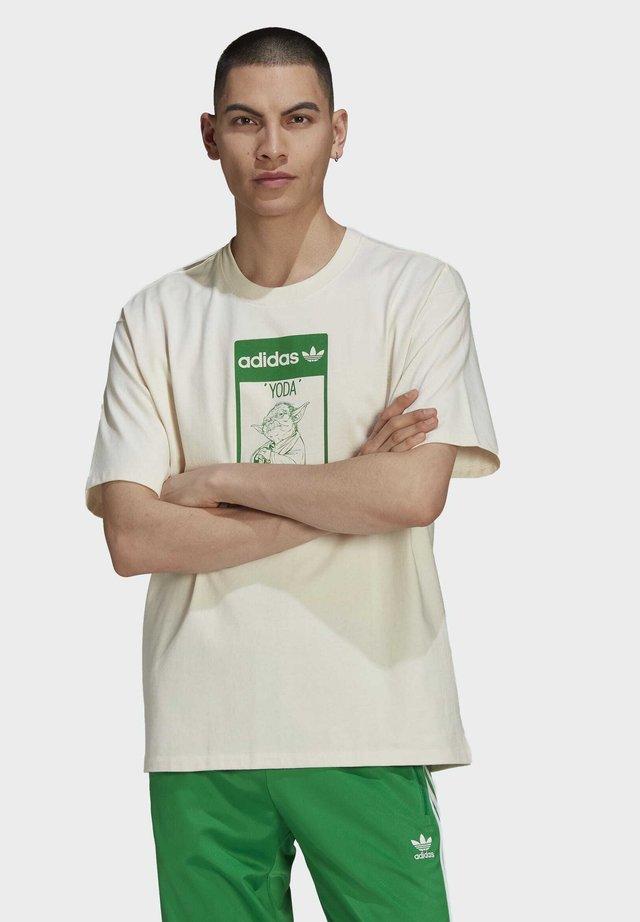TEE YODA - Print T-shirt - white
