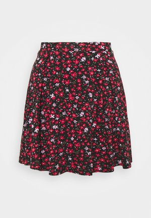 Falda acampanada - black/red