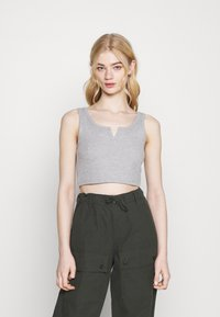 Topshop - WAFFLE NOTCH 3 PACK - Top - black/white/grey - 1