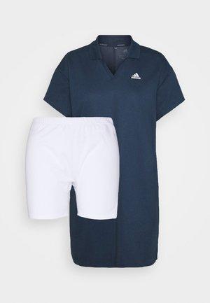 THREE STRIPE DRESS SET - Sports dress - crew navy