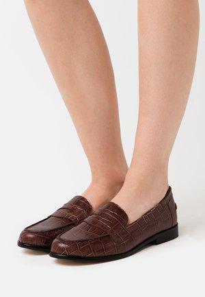 VALALA - Nazouvací boty - cognac