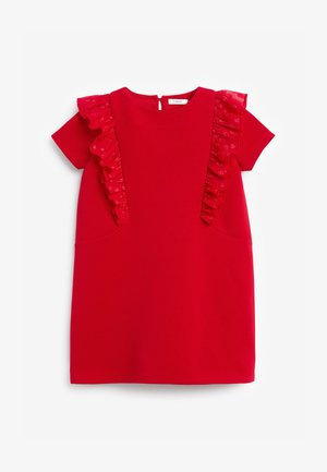 BERRY FLORAL PONTE  - Day dress - red