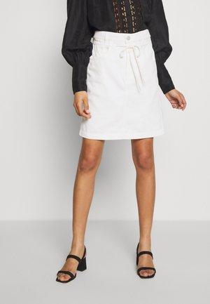 TABBY - Áčková sukně - blanched almond