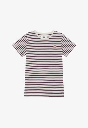 OLA KIDS - Camiseta estampada - off white/aubergine