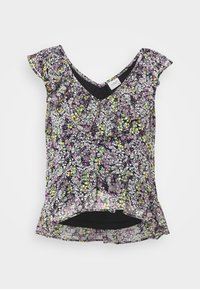 JDY - JDYLARISA CROPPED - Print T-shirt - black - 3