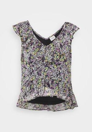 JDYLARISA CROPPED - T-shirt z nadrukiem - black