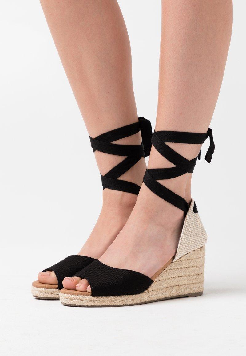 New Look - PALM - Espadrilles - black