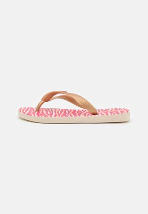 TEMAS KIDS - Pool shoes - beige/gold