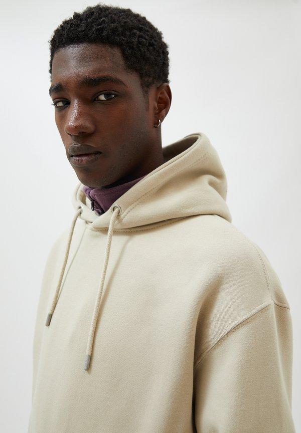 PULL&BEAR Bluza z kapturem - beige/beżowy Odzież Męska JKCT