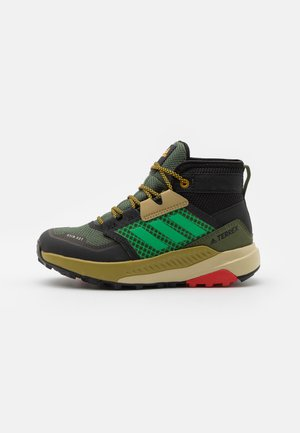 TERREX TRAILMAKER MID R.RDY UNISEX - Hiking shoes - wild pine/vivid green/vivid red