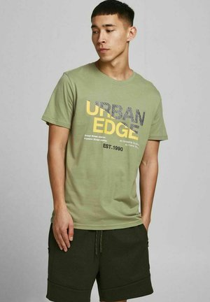Print T-shirt - oil green