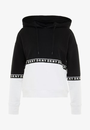 BOXY HOODED - Sweat à capuche - black
