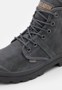 Palladium - PALLABROUSE WAX UNISEX - Lace-up ankle boots - french metal/forged iron - 5