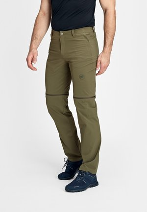 RUNBOLD ZIP OFF - Pantaloni outdoor - iguana