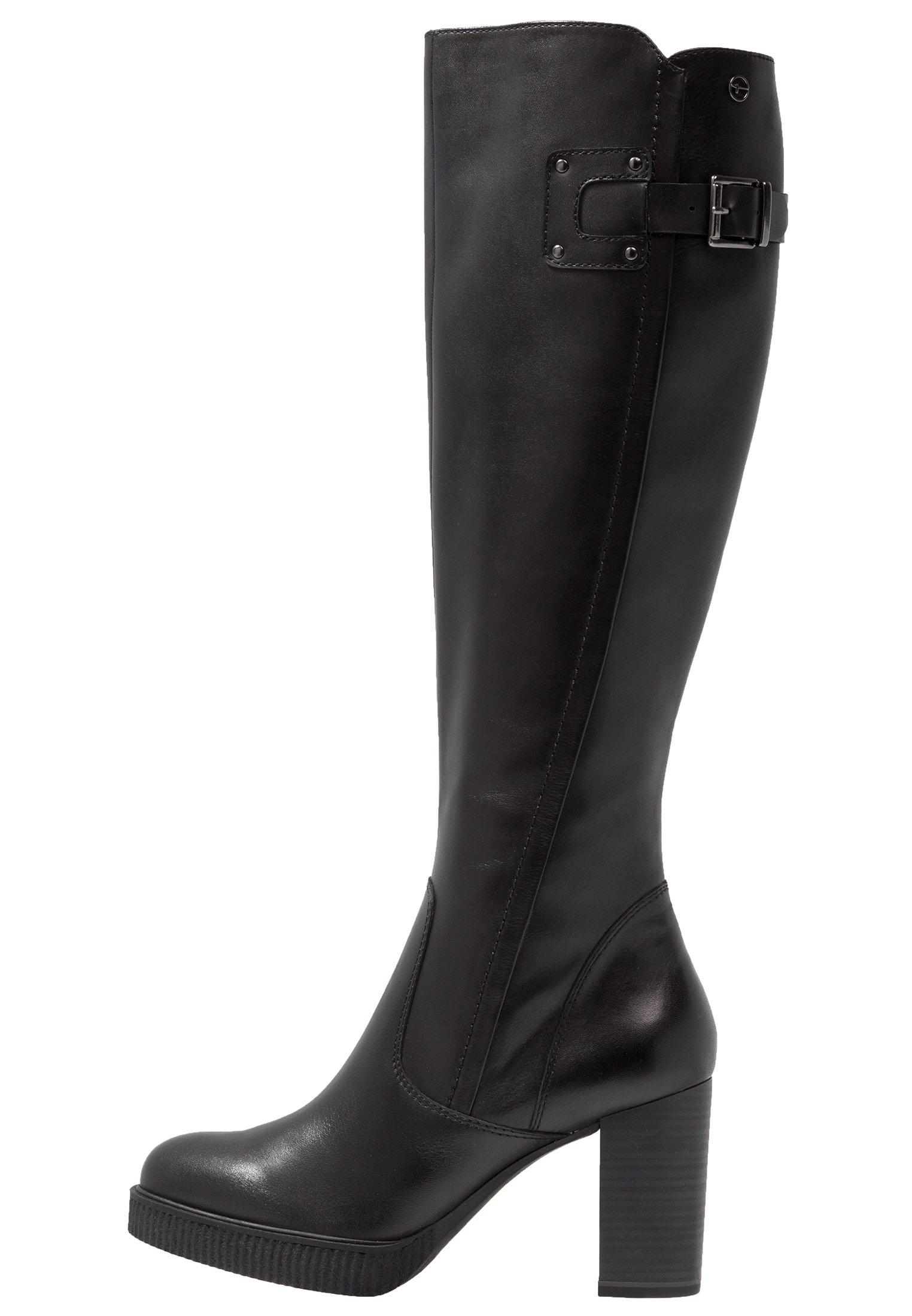 Stivali con plateau black