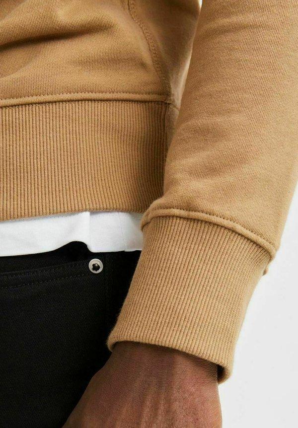 Selected Homme SLHJASON CREW NECK - Bluza - brown/szary Odzież Męska TLZA