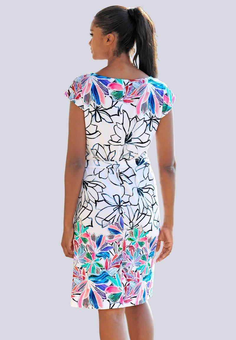 Alba Moda - Shift dress - weiss-bunt