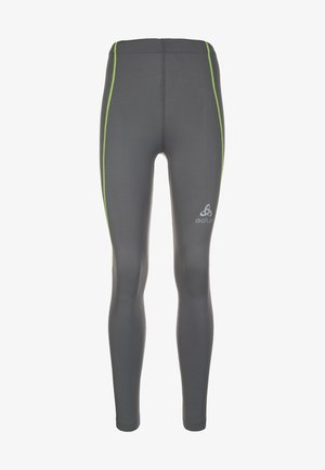 SLIQ  - Leggings - steel grey/safety yellow