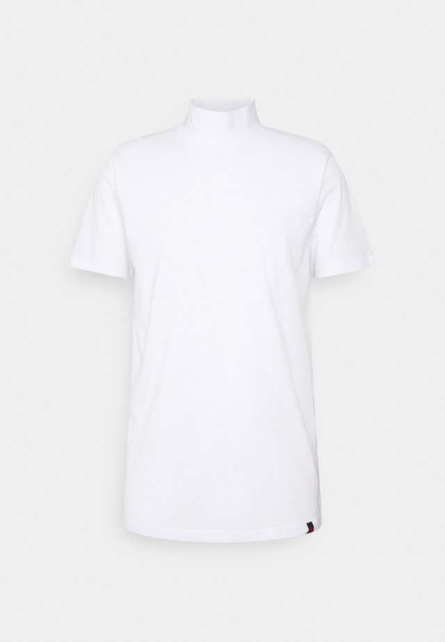 HAKA HIGH NECK TEE - Basic T-shirt - white