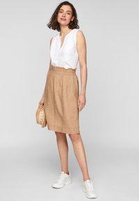 s.Oliver - A-line skirt - desert sand melange - 1