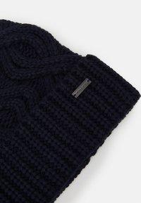 Michael Kors - SHAKER CABLE CUFF HAT UNISEX - Beanie - dark midnight - 3
