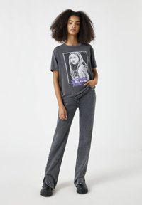 PULL&BEAR - Print T-shirt - dark grey - 1