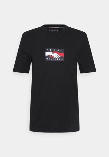 ONE PLANET TEE UNISEX - T-shirt imprimé - black