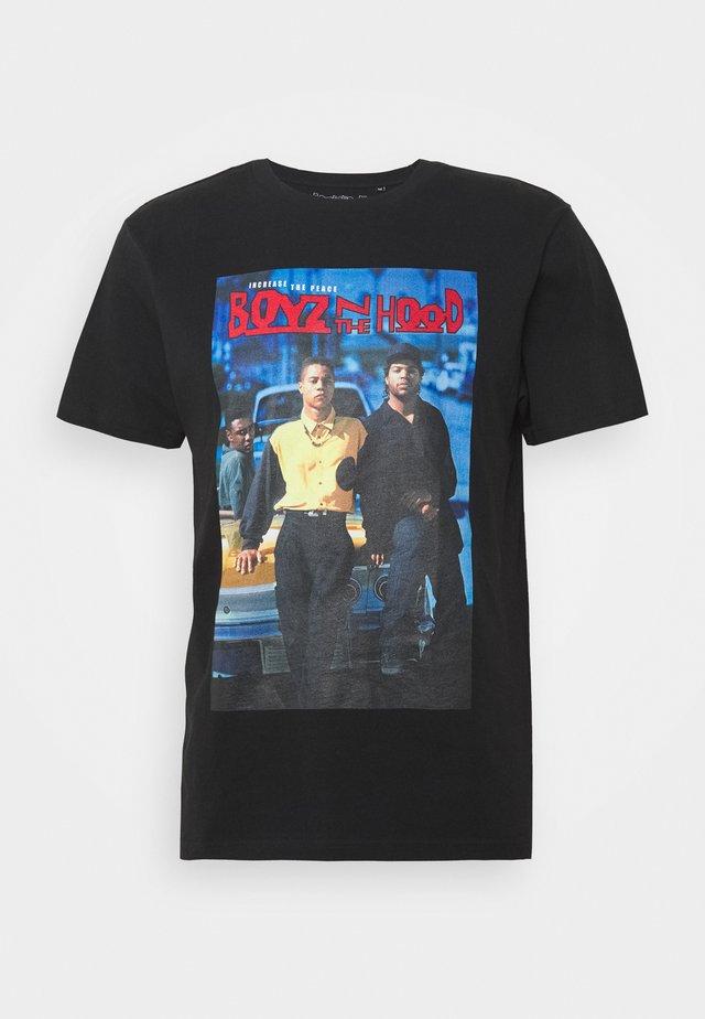 BOYZ IN THE HOOD UNISEX - T-shirt print - black