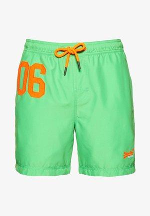 WATERPOLO SWIM - Swimming shorts - green/orange