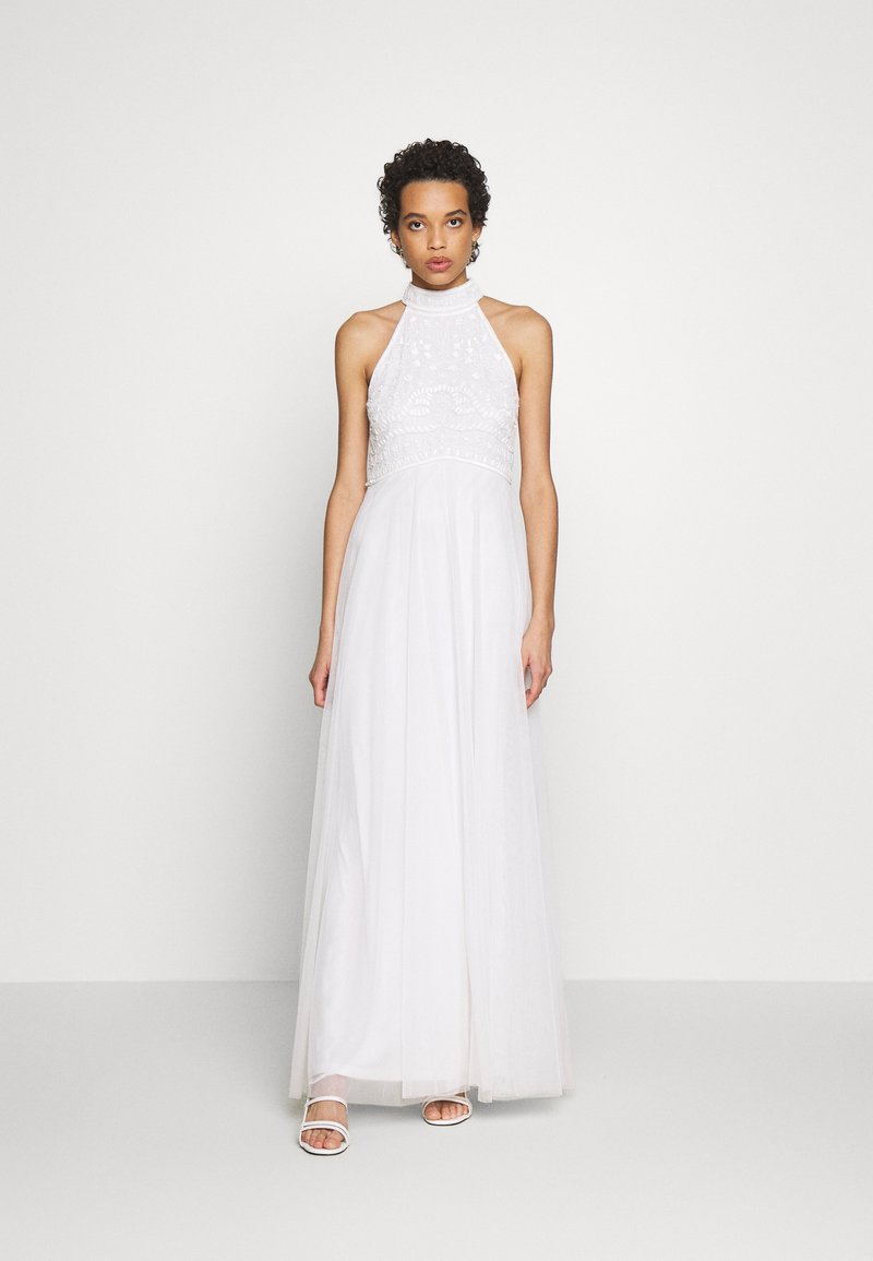 Dorothy Perkins - BRIDAL HARRI EMBELLISHED HALTER MAXI DRESS - Occasion wear - ivory