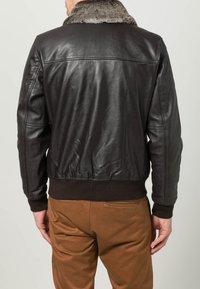 Schott - Leather jacket - dark brown - 4