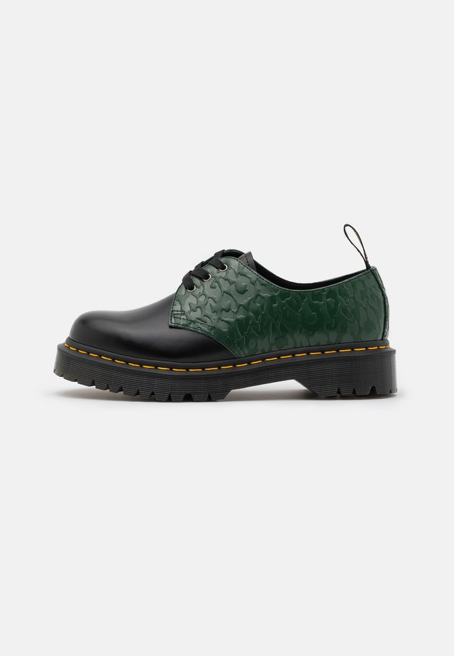 1461 BEX X-GIRL - Lace-ups - black/smooth green