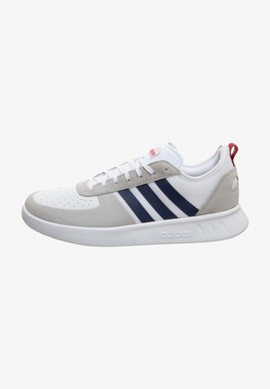 COURT 80S SNEAKER HERREN - Clay court tennis shoes - footwear white/dark  blue/action marine