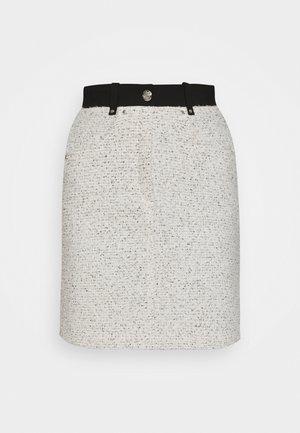 JADKA - Mini skirt - gris/blanc