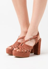 Unisa - VABEL  - High heeled sandals - tiffany - 0