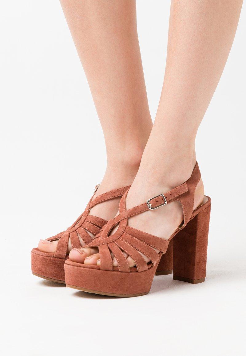 Unisa - VABEL  - High heeled sandals - tiffany