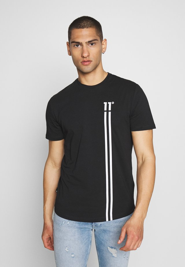 STRIPE LOGO - T-shirt med print - black