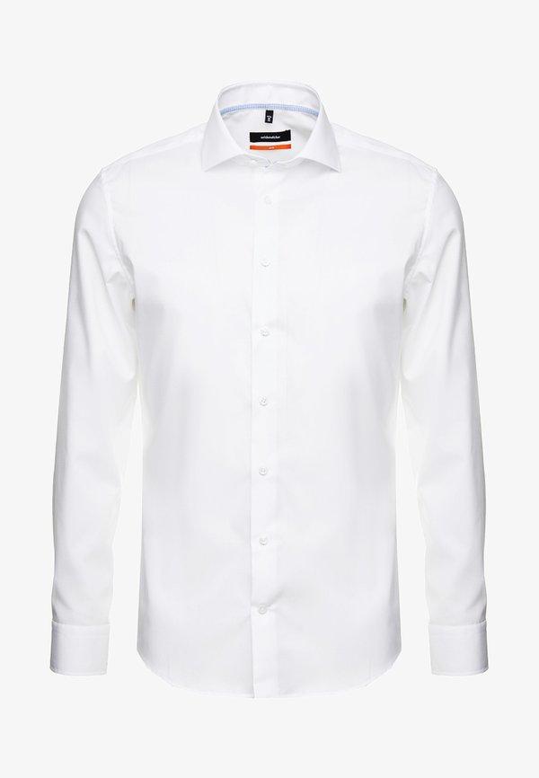 Seidensticker SLIM SPREAD KENT PATCH - Koszula biznesowa - weiß/biały Odzież Męska KUQZ