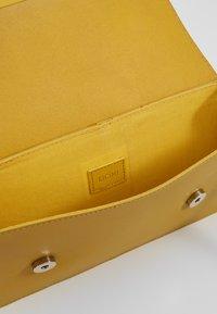 KIOMI - LEATHER - Across body bag - yellow - 4