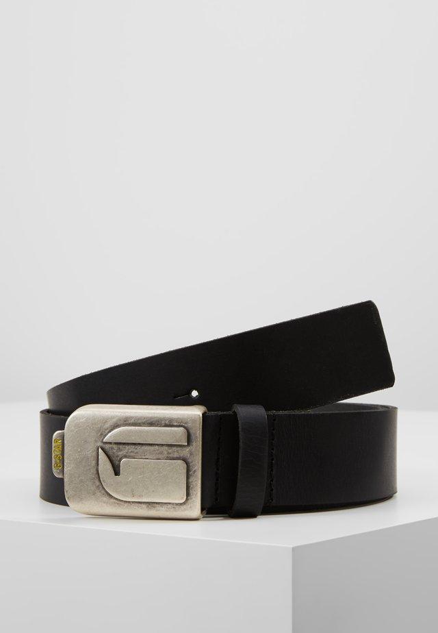 RIV LOGO PIN  - Pásek - black/antic silver