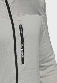 adidas Performance - TRACEROCKER HOODED FLEECE JACKET - Fleecejacke - grey - 6