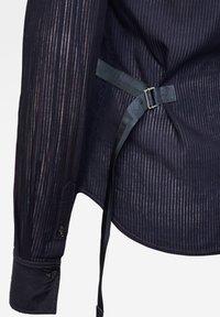 G-Star - SLIM BOW  INDIGO LONG SLEEVE - Button-down blouse - rinsed - 2
