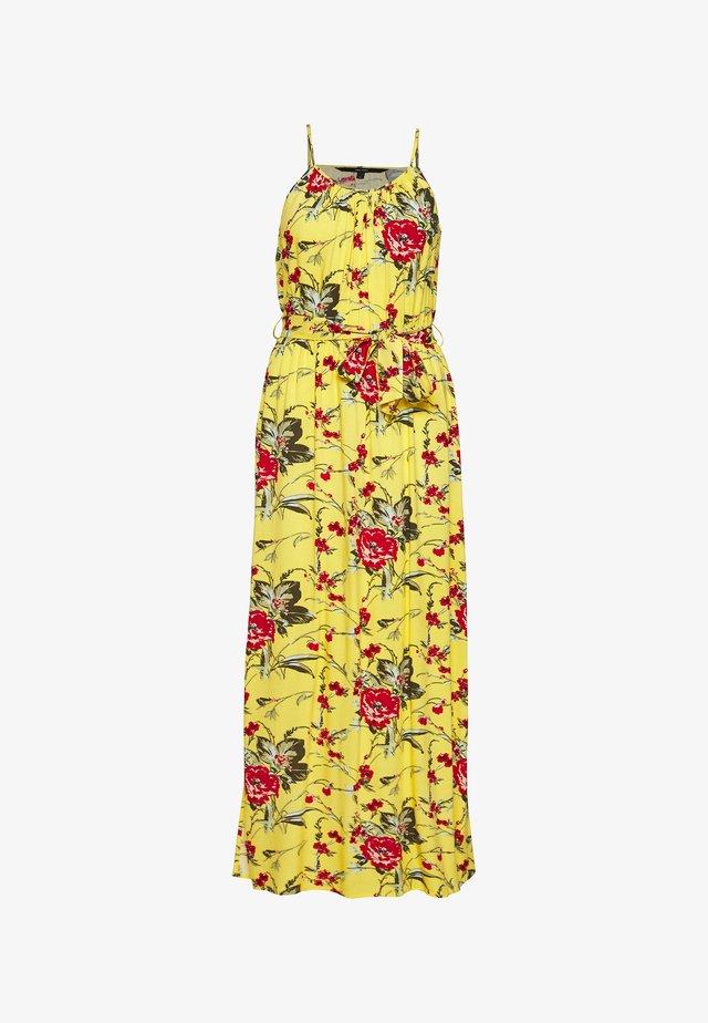 VMSIMPLY EASY SLIT DRESS - Vestito lungo - banana cream