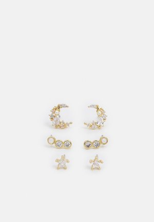 ASIGOWIEL 3 PACK - Pendientes - clear/gold-coloured