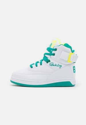 33 - Baskets montantes - white/greenlake/safety yellow