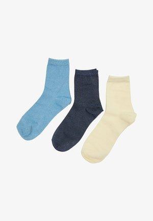 3 PACK - Calcetines - light blue  beige dark blue