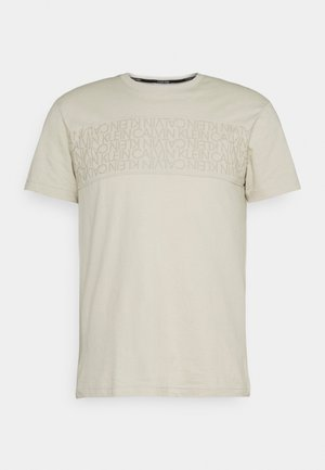 LOGO LINES - T-shirt con stampa - beige