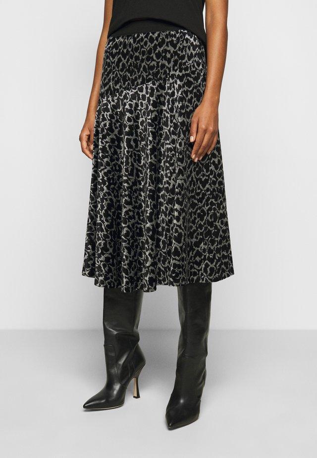 CAROSSA - A-line skirt - dark grey melange