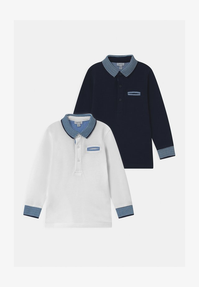 2 PACK - Polo shirt - snow white/midnight navy
